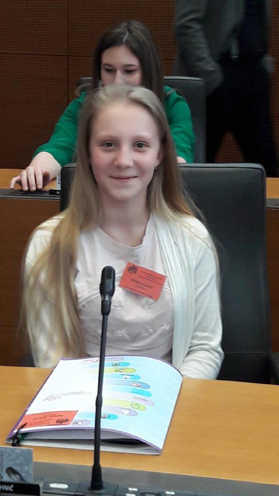 Ronja Slavič o 28. Nacionalnem otroškem parlamentu