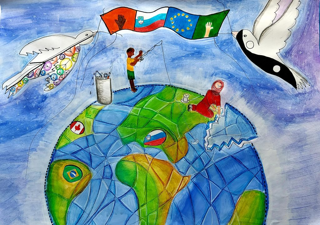 Dve deli naših učenk uvrščeni v finalni izbor projekta Plakat miru